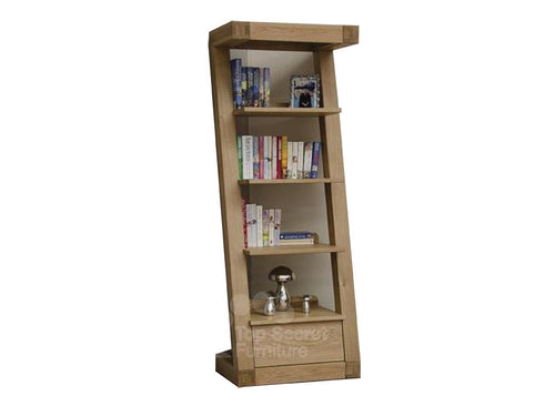 Z Range narrow bookcase - Solid Oak Wood Range