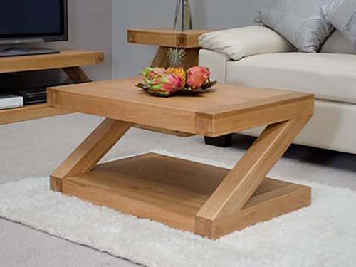 Z Range Coffee Table - Solid Oak Wood