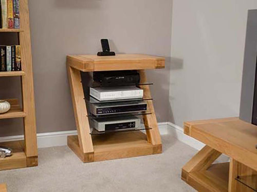 Z Range Hi-Fi Unit - Solid Oak Wood Range