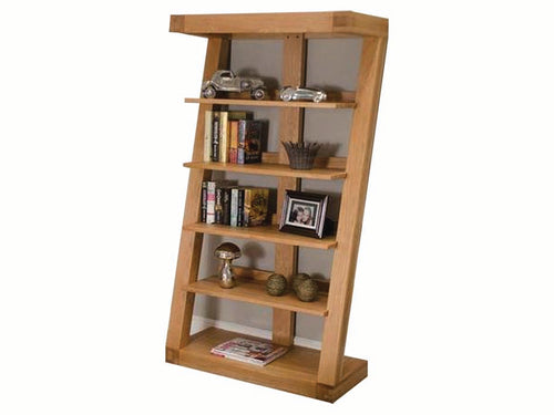 Z Range Large Bookcase - Solid Oak Wood Range