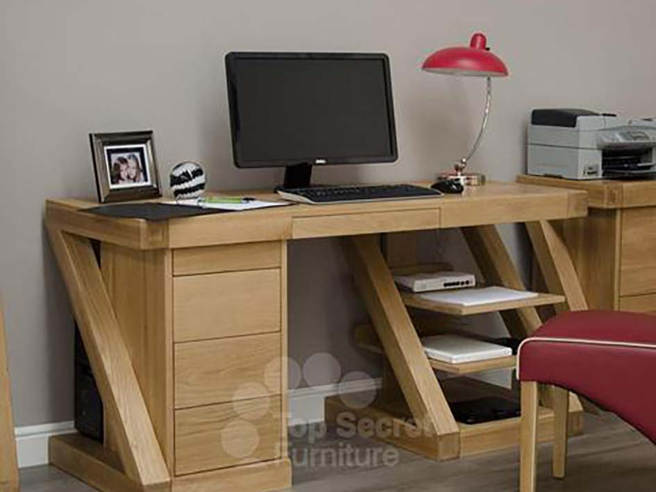 Large Office desk or Home desk - Solid Oak Wood