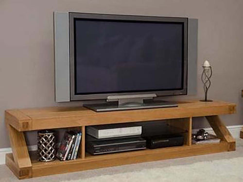Solid Oak Wood Large Plasma TV Unit, TV Cabinet