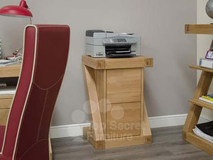 Z Range Filing Cabinet - Solid Oak Wood Range