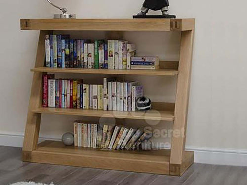 Z Range small Bookcase - Solid Oak Wood Range