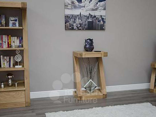 Z Range Small Console Table - Solid Oak Wood