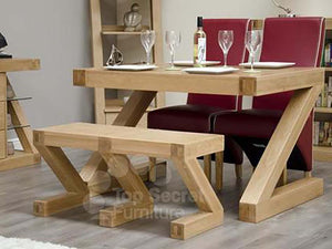 Z Range dining bench and table - Solid Oak Wood Range