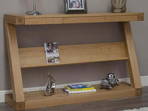 Z Range Wide Console Table - Solid Oak Wood Range