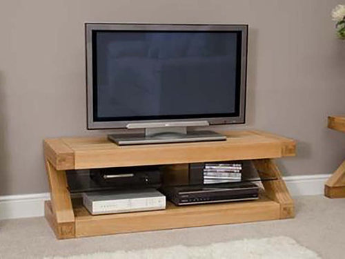 TV Unit, Solid Oak TV Cabinet, Corner TV Unit