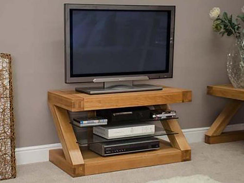 Z Range TV Unit - Solid Oak Wood Range