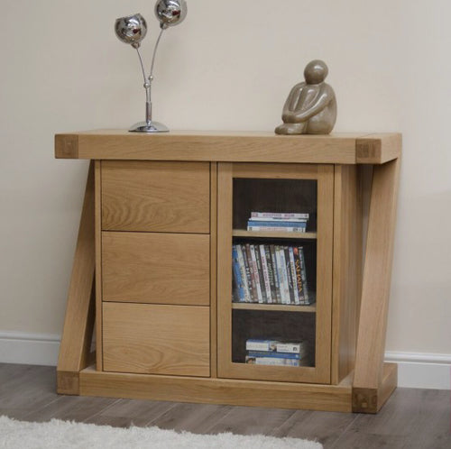 Z Range Glazed Chest - Solid Oak Wood Range