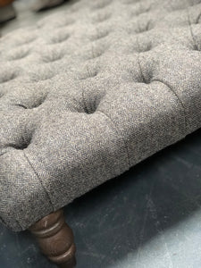 Arron Footstool in Harris Tweed