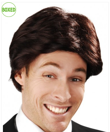 Tomfoolery Brown Anchorman Swept Fringe Wig