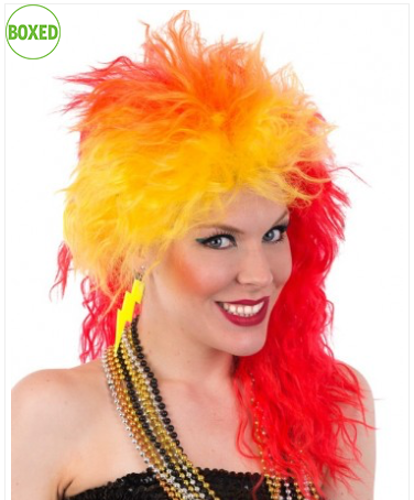 80's Cyndi Red/Orange/Yellow