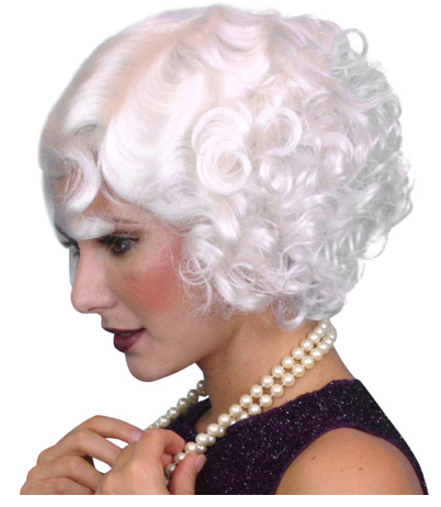 Carnival 20's Flapper Wig - White