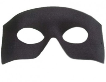 Tomfoolery Black D'artagnan Eye Mask