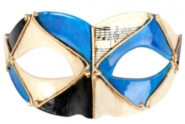 Tomfoolery Pietro Blue & Black Eye Mask