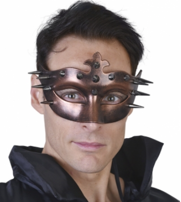 Tomfoolery Ulric Bronze Eye Mask with Spikes