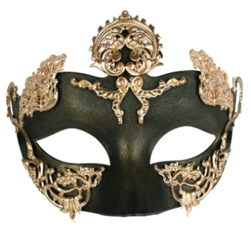 Tomfoolery Isha Black & Gold Eye Mask