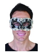 Tomfoolery Black Eye Mask with Silver Detail