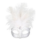Tomfoolery Carmela Feather Eye Mask