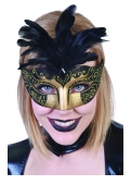 Tomfoolery Gabrielle Eye Mask with Feathers