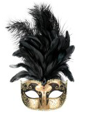 Tomfoolery Sienna Eye Mask with Feathers