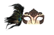 Tomfoolery Burlesque Eye Mask with Feathers