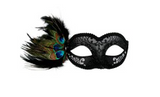 Tomfoolery Adrianna Eye Mask with Feathers