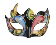 Tomfoolery Alzena Black/Multicolour Eye Mask