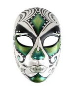 Tomfoolery Juanita Day of Dead Mask Green