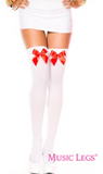 Music Legs Thigh High's with Bows