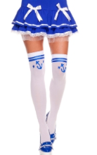 Music Legs Thigh High Sailor