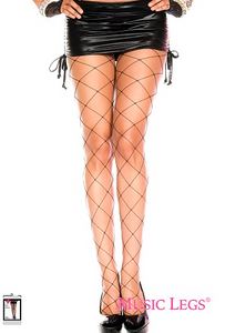 Music Legs Seamless Large Fence Net Pantyhose