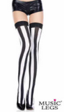 Music Legs Vertical Stripe Thigh High