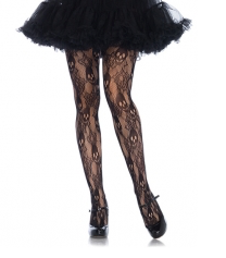 Leg Avenue Rose Skull Lace Tights