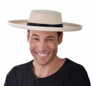 Tomfoolery Boater Hat - Cream