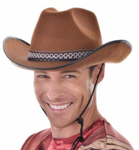 Tomfoolery Brown Cowboy Hat with Woven Band