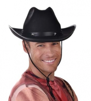 Tomfoolery Black Cowboy Hat with Star on Band