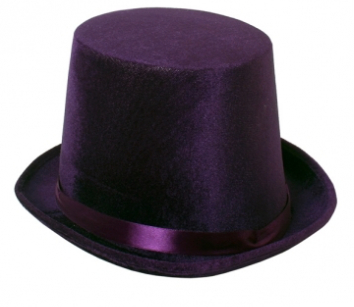Tomfoolery Purple Mad Hatter Hat without Card