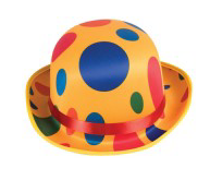 Tomfoolery Polka Dot Clown Hat