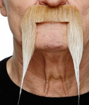 Tomfoolery Long Blonde Adhesive Moustache
