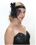 Interalia 1920's Flapper Headbands Black/Gold/Silver Assorted