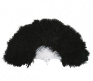 Tomfoolery Black Feather Fan