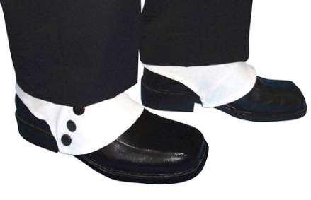 Carnival White Gangster Spats