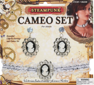 Tomfoolery Steampunk Cameo Set