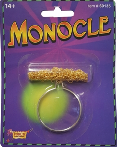 Tomfoolery Gold Monocle
