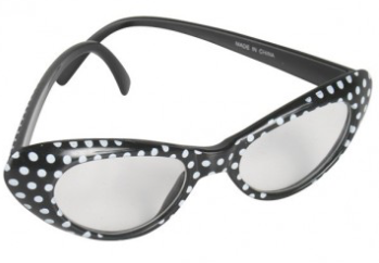Tomfoolery 60's Polka Dot Glasses