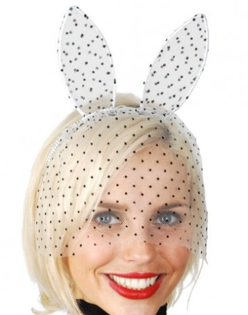 Tomfoolery Bunny Ears with Veil