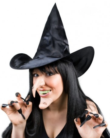 Tomfoolery Witch Set - Hat, Nose, Chin, Teeth & Claws