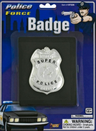 Tomfoolery Police Badge on Wallet